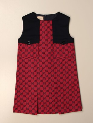 Gucci Dress With All-over Gg Supreme Logo