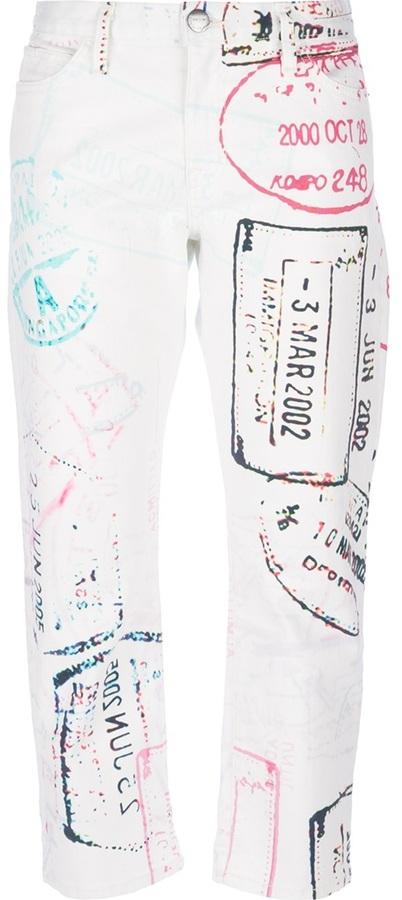 Mary Katrantzou Current/Elliott X printed trouser