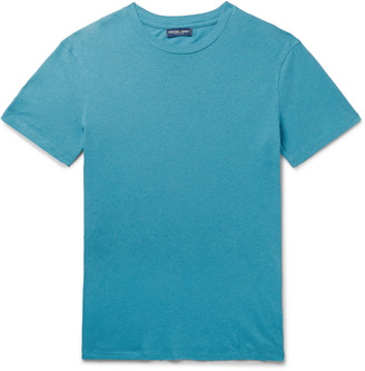 Frescobol Carioca Slim-Fit Cotton And Linen-Blend T-Shirt