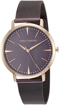 Vince Camuto Women's VC/5345PRTT Rose Gold-Tone and Brown Mesh Bracelet Watch