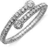 ABS by Allen Schwartz Bracelet, Hematite-Tone Glass Crystal Coil Bangle