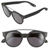 Givenchy Women's 50Mm Round Sunglasses - Black Gold/ Grey