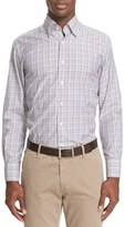 Canali Men's Trim Fit Check Sport Shirt