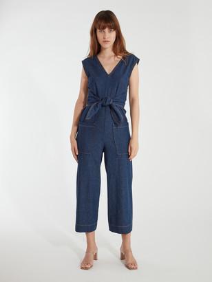 Joie Wister Wrap Tie Cotton Jumpsuit