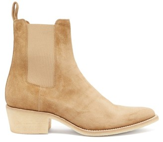 Amiri Pointed-toe Suede Chelsea Boots - Mens - Brown