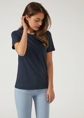 Emporio Armani Pure Cotton Jersey Crew-Neck T-Shirt