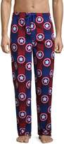 Bioworld Marvel Captain America Men's Brushed Fleece Sleep Bottoms Lounge Pajama Pants