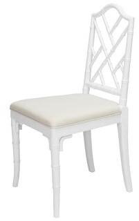 Worlds Away Linen Upholstered Side Chair Frame Color: White