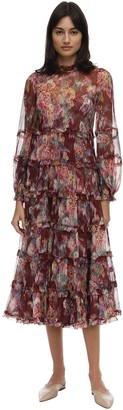 Zimmermann Printed Silk Midi Dress