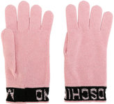 Moschino inverted logo gloves