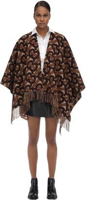 Burberry Merino Wool & Cashmere Knit Poncho
