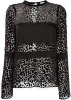 Ungaro leopard print blouse