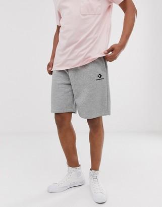 Converse Small Logo Jersey Shorts in Grey