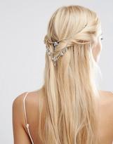Asos WEDDING Back Draping Crystal Hair Crown