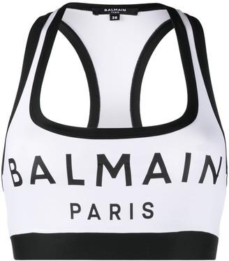 Balmain Logo Sports Bra