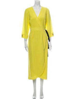 Cefinn V-Neck Long Dress w/ Tags Yellow