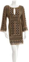 Calypso Embroidered V-Neck Dress