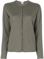 Le Tricot Perugia round neck buttoned cardigan