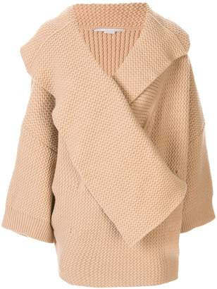 Stella McCartney oversized chunky knit cardi-coat