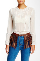 Streets Ahead Italian Leather Fringe Belt