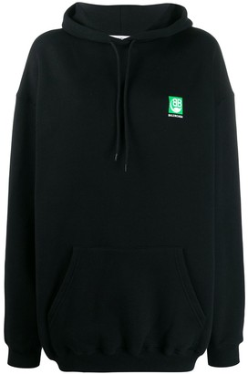 Balenciaga Green Logo hooded sweatshirt