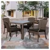 Atlantic Miami Beach 5pc Wicker Patio Dining Set - Gray