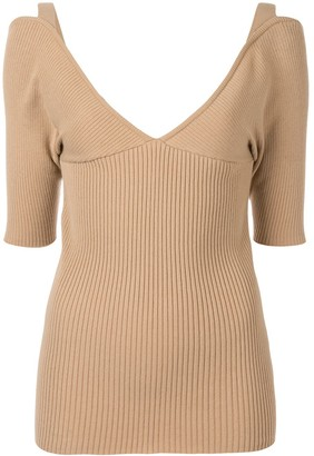 Muller of Yoshio Kubo V-neck fitted top