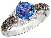 LeVian Vanilla Diamond, Chocolate Diamond, Tanzanite and 14K White Gold Ring