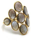 Tresor Collection - Labradorite Ring in 18k Yellow Gold