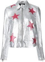 Zoe Karssen stars metallic (Grey) jacket - women - Cotton/Goat Skin/Spandex/Elastane - S