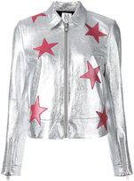 Zoe Karssen stars metallic jacket - women - Cotton/Goat Skin/Spandex/Elastane - S
