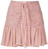 Martha Medeiros Thamires lace mini skirt