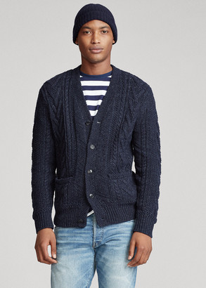 Ralph Lauren Aran Cotton-Blend Cardigan