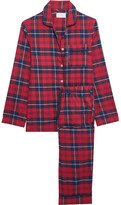 Three J NYC Jamie Plaid Cotton-flannel Pajama Set - Claret