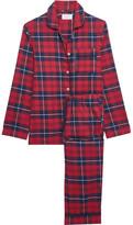 Three J NYC Jamie Plaid Cotton-flannel Pajama Set - Claret