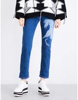 Stella McCartney Horse-print boyfriend-fit mid-rise jeans