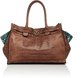 Zagliani Women's Gatsby Tote-BROWN