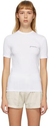 Jacquemus SSENSE Exclusive White Le T-Shirt de Collection T-Shirt