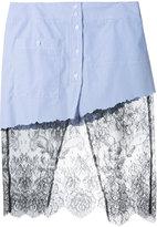 Filles a papa lace detail skirt - women - Cotton - 0