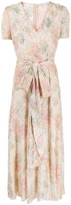 RED Valentino Floral Metallic Long Dress