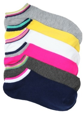 Mix No. 6 Athletic Women's No Show Socks - 6 Pack