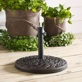 Walker Edison Cross Weave Round Umbrella Base