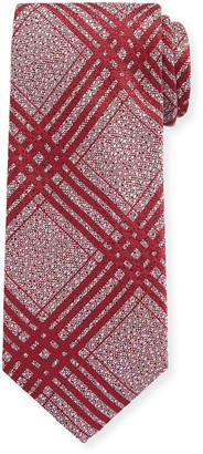 Canali Men's Plaid Silk Tie