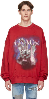 Amiri Red City Dragon Sweatshirt