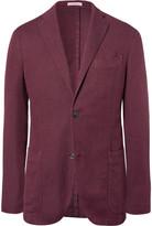 Boglioli - Red Slim-fit Unstructured Cotton, Linen And Silk-blend Blazer
