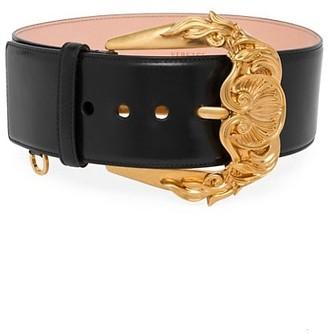 Versace Cintura Vitello Leather Belt