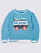 Marks and Spencer Cotton Rich Sweatshirt (3 Months - 5 Years)
