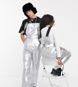 Collusion Unisex metallic jumpsuit