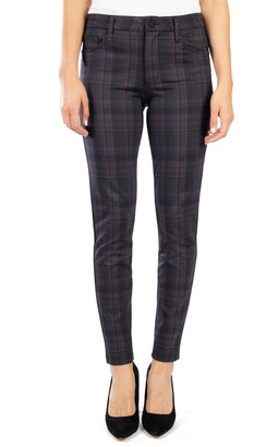 KUT from the Kloth Mia Plaid Ankle Skinny Pants