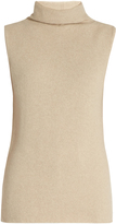 The Row Leona roll-neck cashmere and wool-blend top